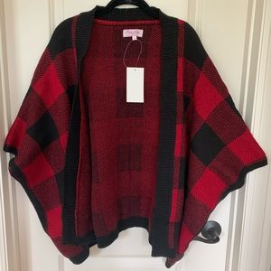 Sweaters - Buffalo Check Poncho